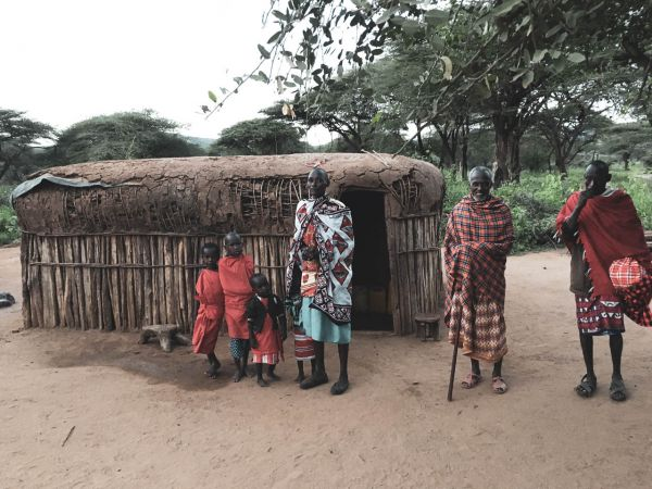 Local Maasai family and their house for 6