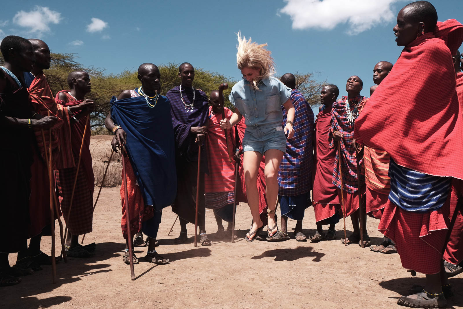 Laugh, jump and dance with the Maasai